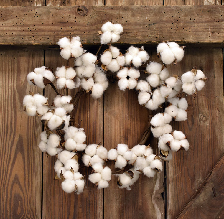 Faux Cotton Wreath - 12