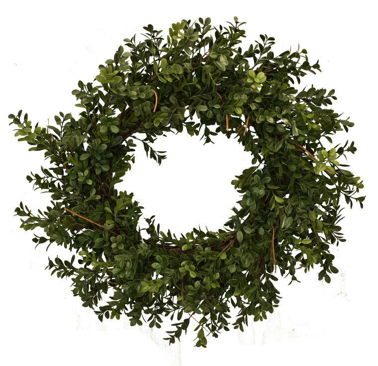 Boxwood Wreath Artificial 23 Inch