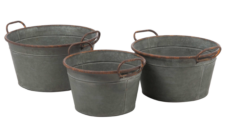 Galvanized Handle Buckets