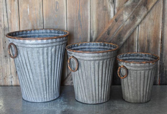 Galvanized Bucket Set