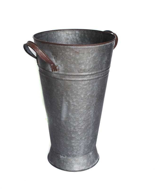 Galvanized French Bucket Home Decorative Accents