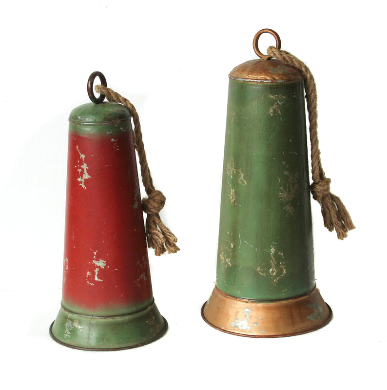 Galvanized Holiday Bells - Set of 2