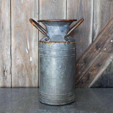 Galvanized Milk Can