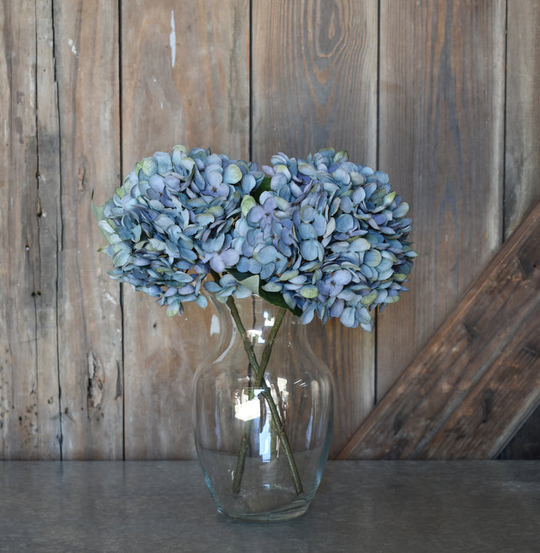 Faux Hydrangea Pick - Blue - Set of 6