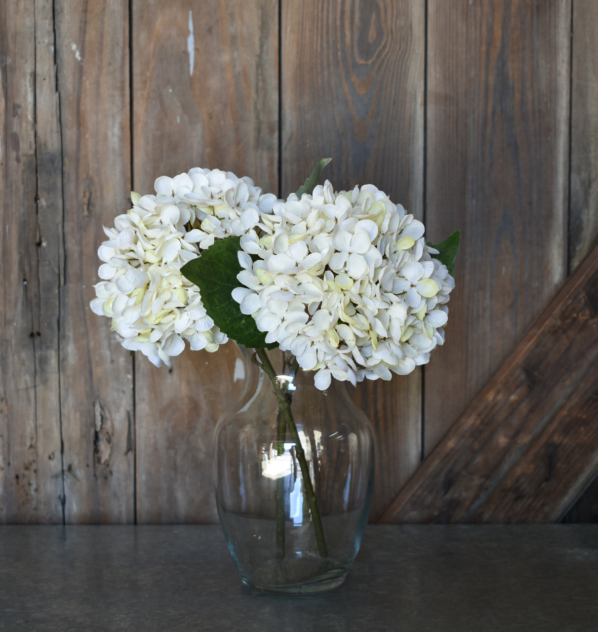 Faux Hydrangea Pick - Cream - Set of 6