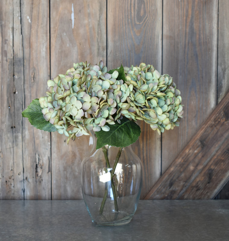 Faux Hydrangea Pick - Green/Purple - Set of 6