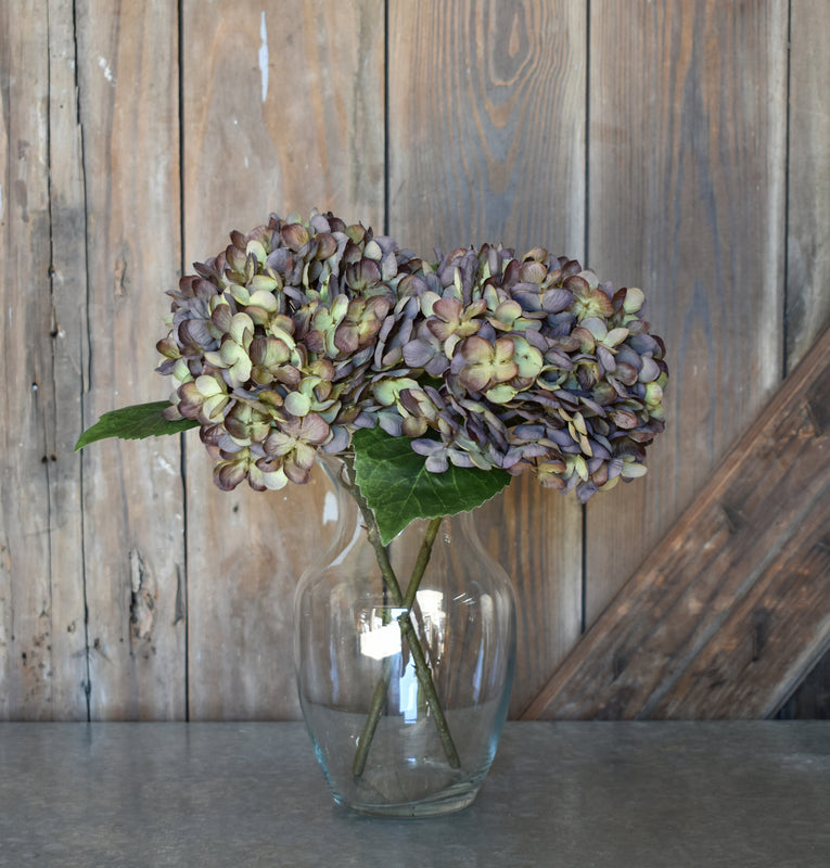Faux Hydrangea Pick - Purple/Green - Set of 6