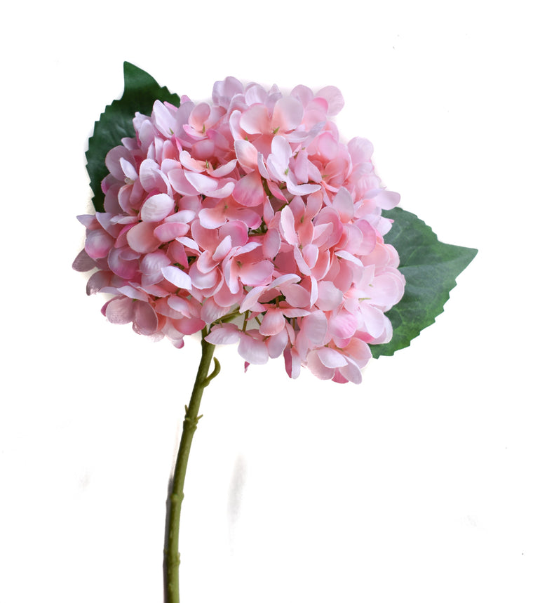 Faux Hydrangea Pick - LT Pink - Set of 6