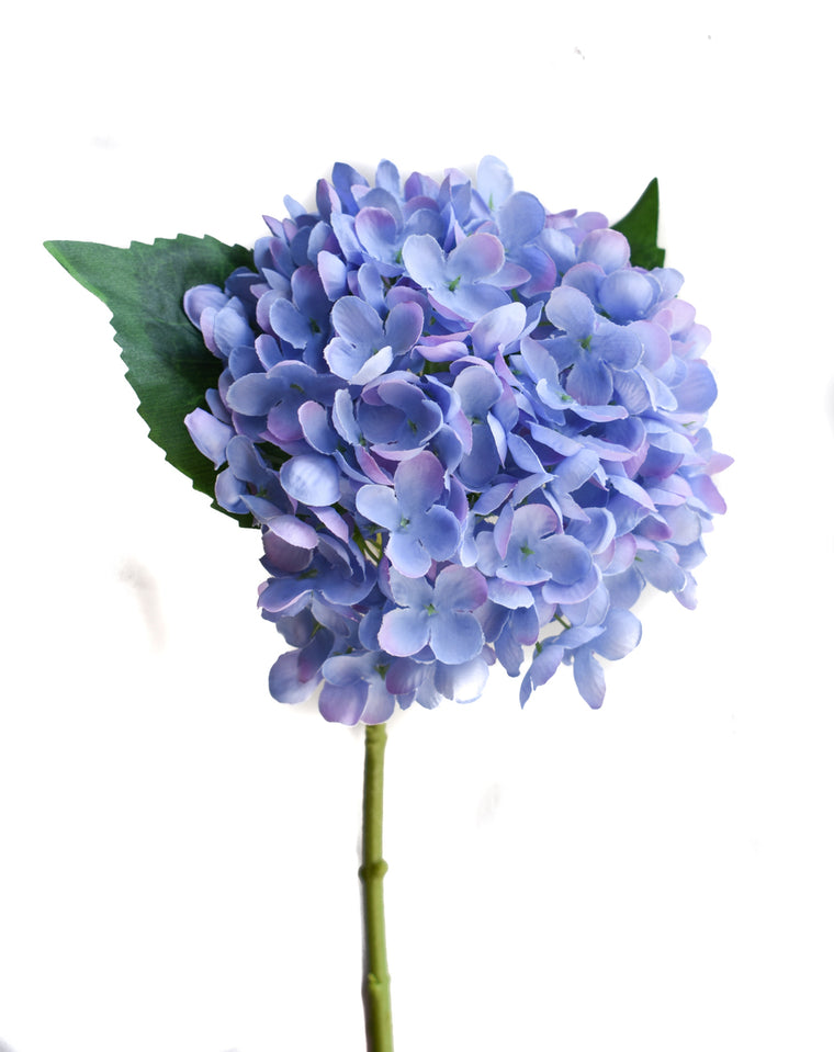Faux Hydrangea Pick - PP/Blue - Set of 6