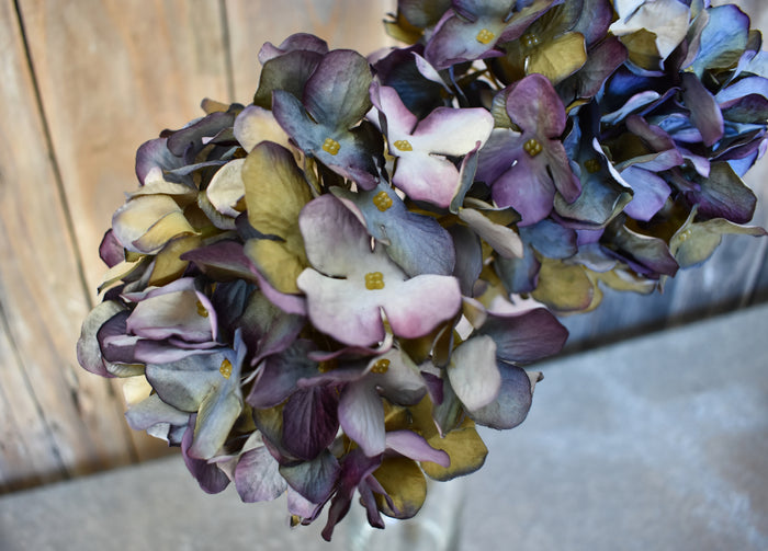 Faux Hydrangea Spray - Indigo - Set of 6