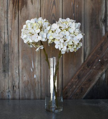Faux Hydrangea Spray - Cream - Set of 6