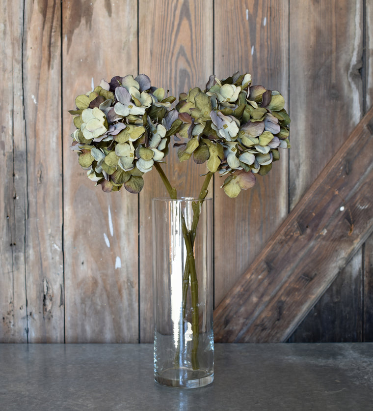 Faux Hydrangea Spray - Green - Set of 6