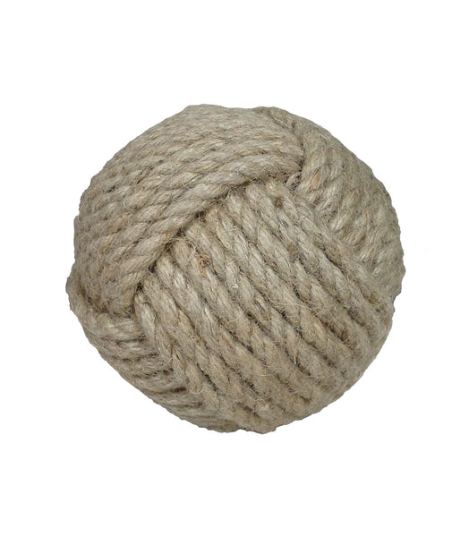 "Jute 9 Strand Decorative Ball - 4.75"" - Set of 2 - HOME DECORATIVE ACCENTS - 2"