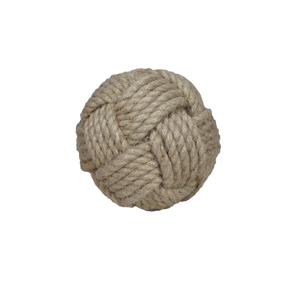"Jute Knot Decorative Ball - 4.75"" - Set of 2 - HOME DECORATIVE ACCENTS - 2"