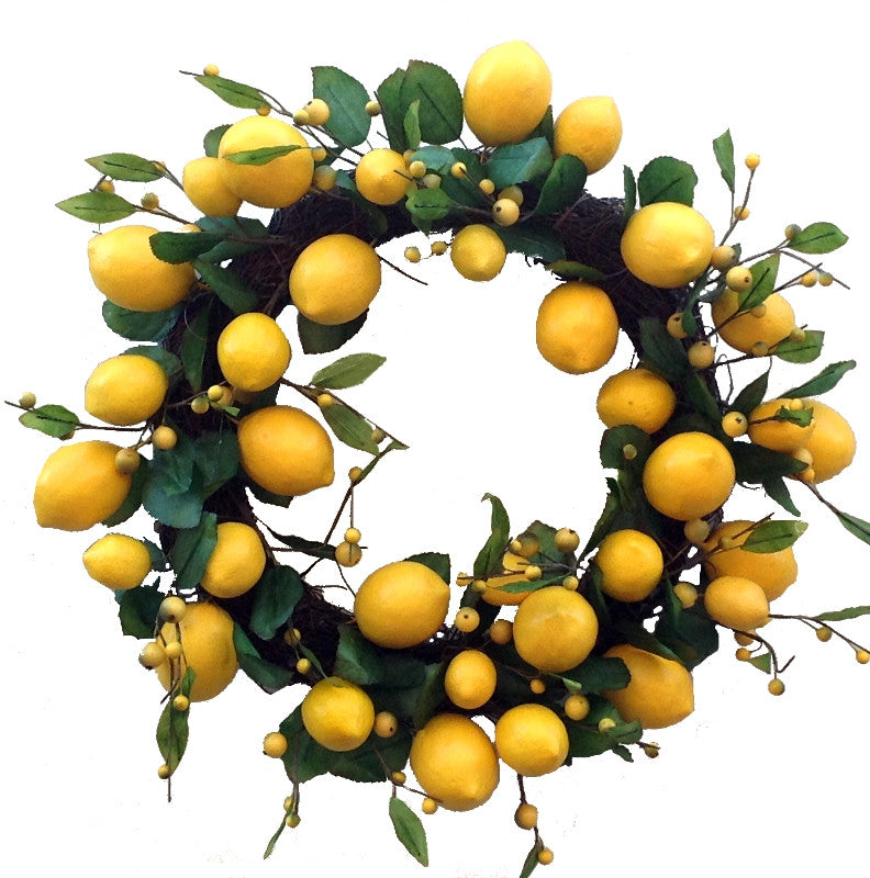 "Lemon Leaf Wreath - 18"" - HOME DECORATIVE ACCENTS"