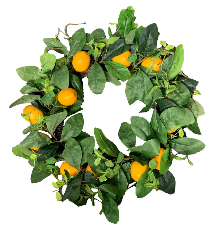 Lemon Wreath 22