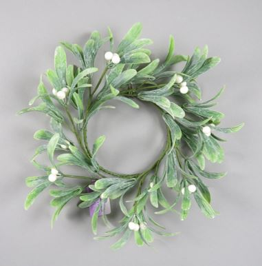 Merry Mistletoe Candle Ring - 4.5 Inch - 2101D9901