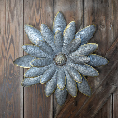Galvanized Daisy Flower