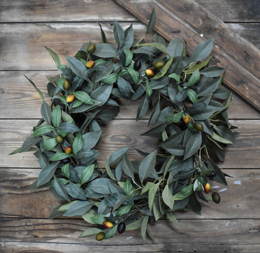Olive Leaf Wreath - 22