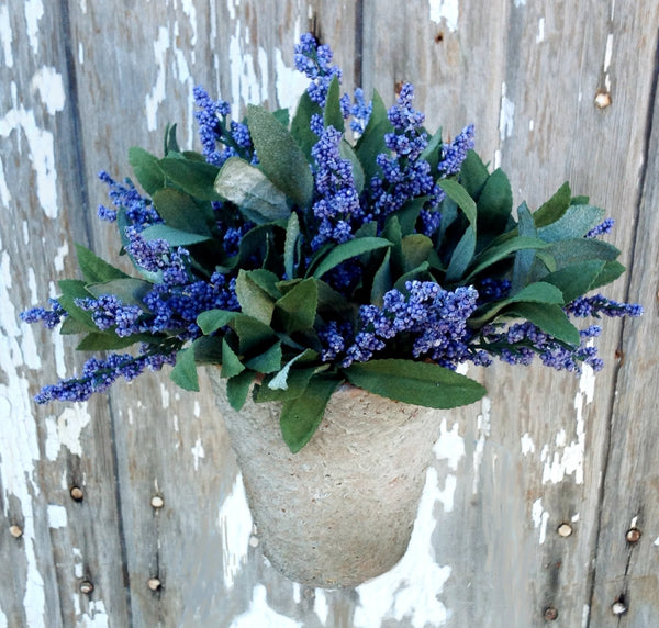 Potted Artificial Lavender Bloom Purple - HOME DECORATIVE ACCENTS