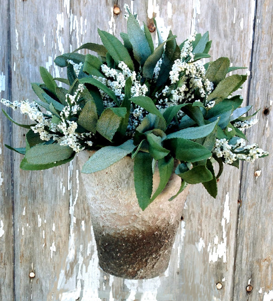 Potted Lavender Bloom Artificial White - HOME DECORATIVE ACCENTS
