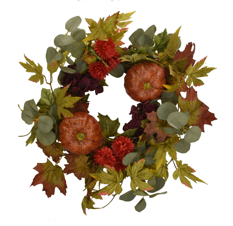 Pumpkin Spice Wreath 20 Inch