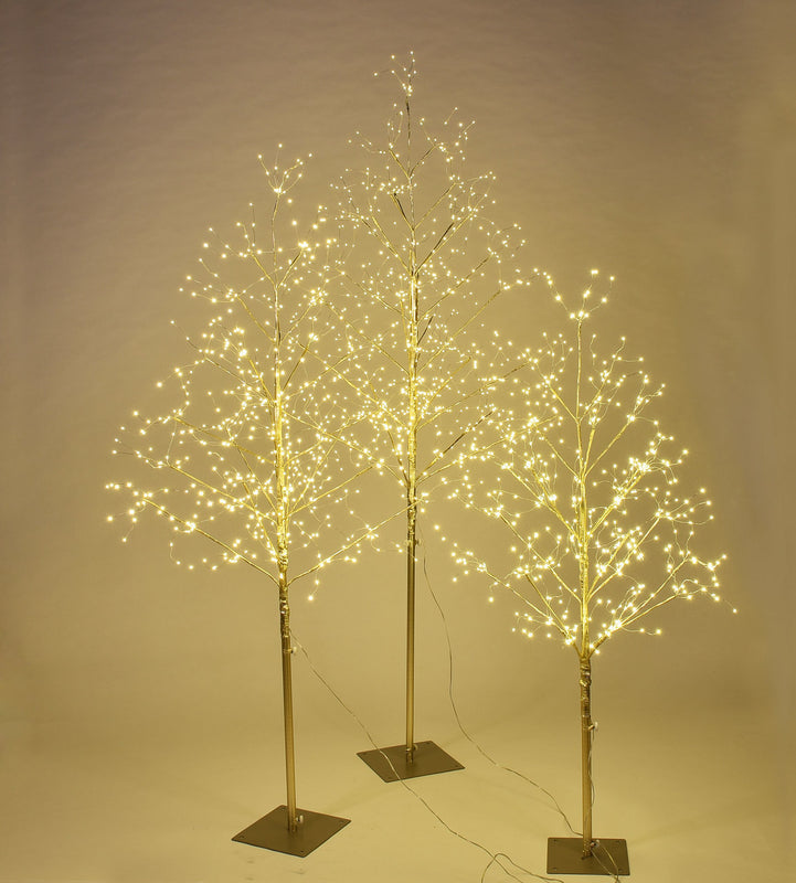 Starlit Tree Gold - Set/3 - 4',5', 6'
