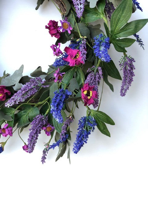 Violet Majestic Wreath 5195Q0801 Close up
