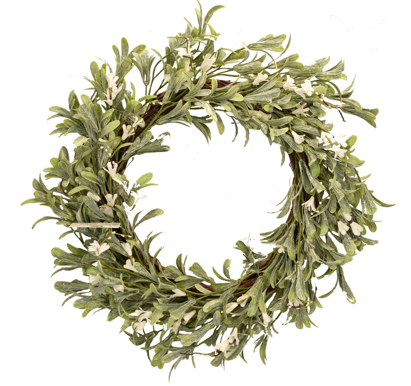 White Blossom Wreath 22""