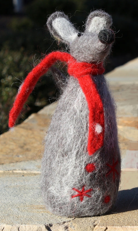 Wooly Mouse Large with Scarf