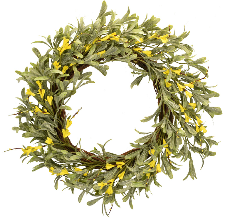 Yellow Blossom Wreath 22""