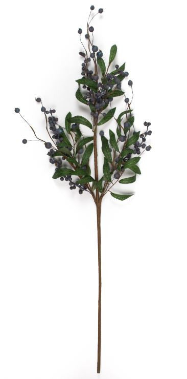 "Fresh Blueberry Stem - 30"" - Set of 6 - HOME DECORATIVE ACCENTS - 1"