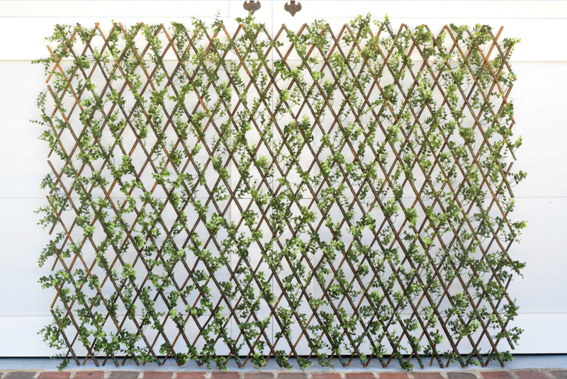 "Faux Boxwood Willow Lattice Screen - 39"" x 78"" - HOME DECORATIVE ACCENTS - 3"