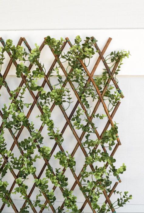 "Faux Boxwood Willow Lattice Screen - 39"" x 78"" - HOME DECORATIVE ACCENTS - 2"