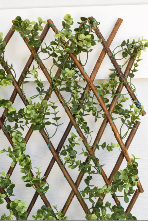Faux Boxwood Willow Lattice Screen
