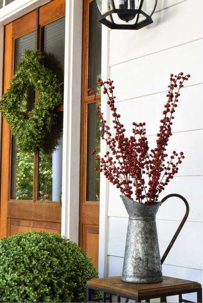 "Ilex Berry Spray Burgundy - 28"" - Set of 6 - HOME DECORATIVE ACCENTS - 1"