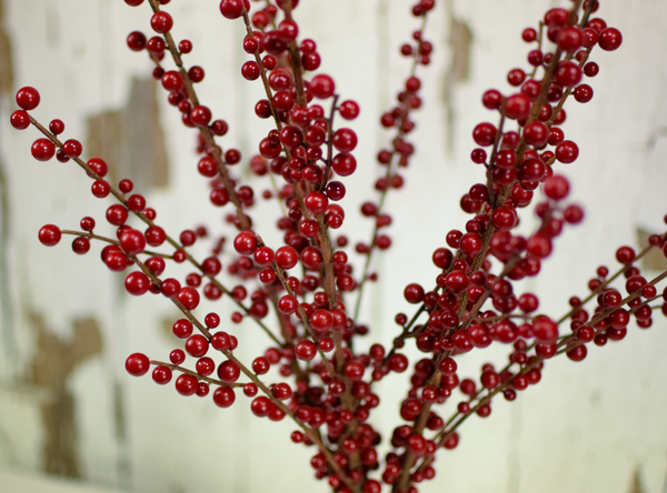 "Ilex Berry Spray Burgundy - 28"" - Set of 6 - HOME DECORATIVE ACCENTS - 3"