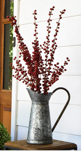 "Ilex Berry Spray Burgundy - 28"" - Set of 6 - HOME DECORATIVE ACCENTS - 2"
