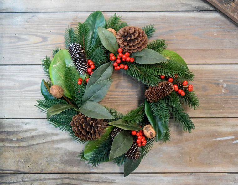 Chestnut Berry Wreath - 16