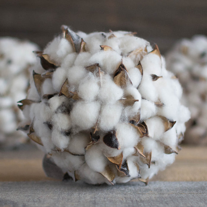 "Cotton Boll Ball - 6"" - HOME DECORATIVE ACCENTS - 2"