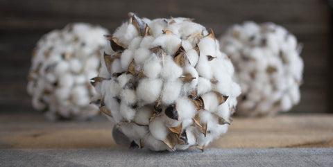 "Cotton Boll Ball - 6"" - HOME DECORATIVE ACCENTS - 1"