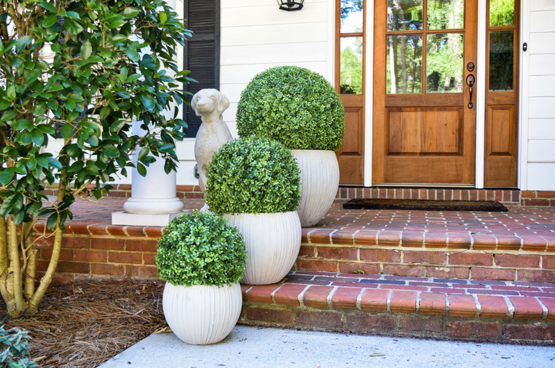 "Faux Boxwood Ball - 15"" - Set of 2 - HOME DECORATIVE ACCENTS - 3"