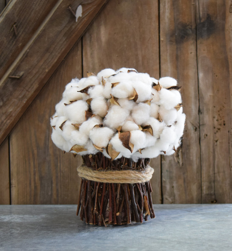 Faux Cotton Bouquet - 9