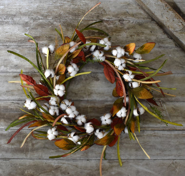 Cotton Grass Wreath - 20