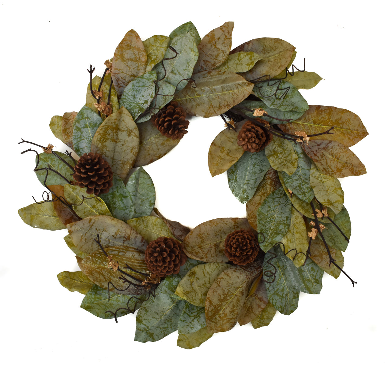 Forest Magnolia Wreath 24""