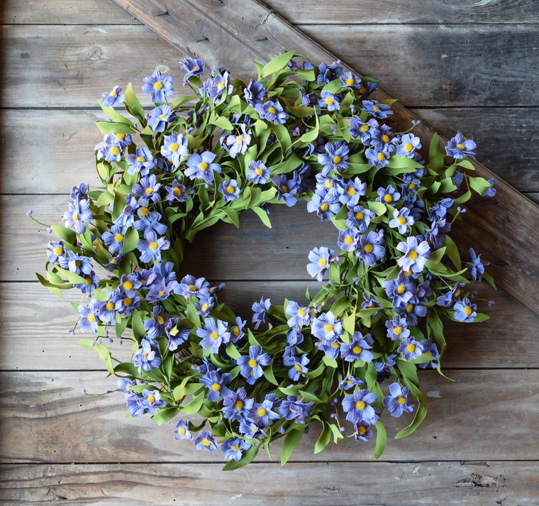 Forget Me Not Lavender Wreath - 24 Inch