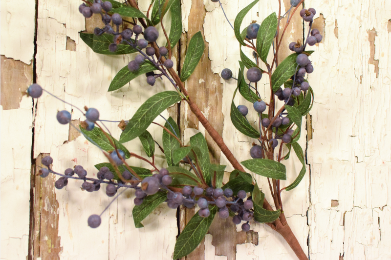 "Fresh Blueberry Stem - 30"" - Set of 6 - HOME DECORATIVE ACCENTS - 3"