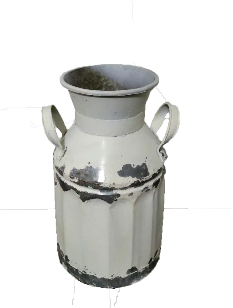 Galvanized Farmhouse Milk Can