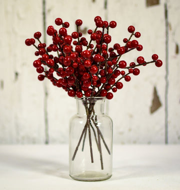 "Ilex Berry Burgundy Pick 8"" - 6 pcs"