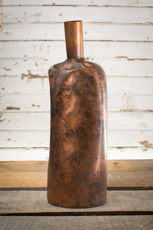 Industrial Metal Decanter/Vase - Large - HOME DECORATIVE ACCENTS